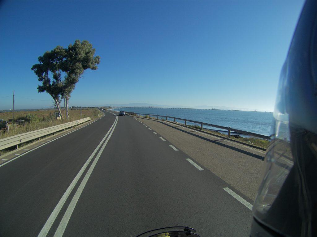 Cagliari ganz in der Ferne