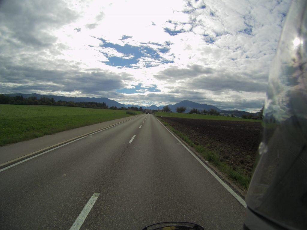 Alpen am Horizont