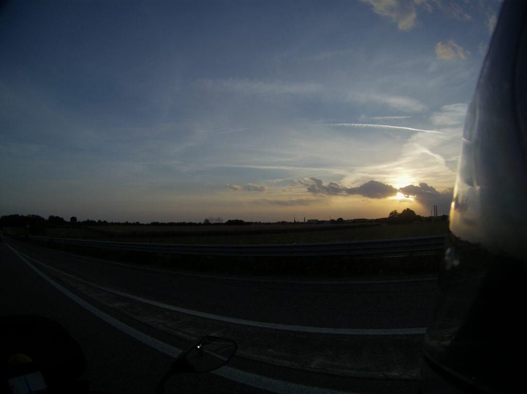 Sonnenuntergang vor Chiari