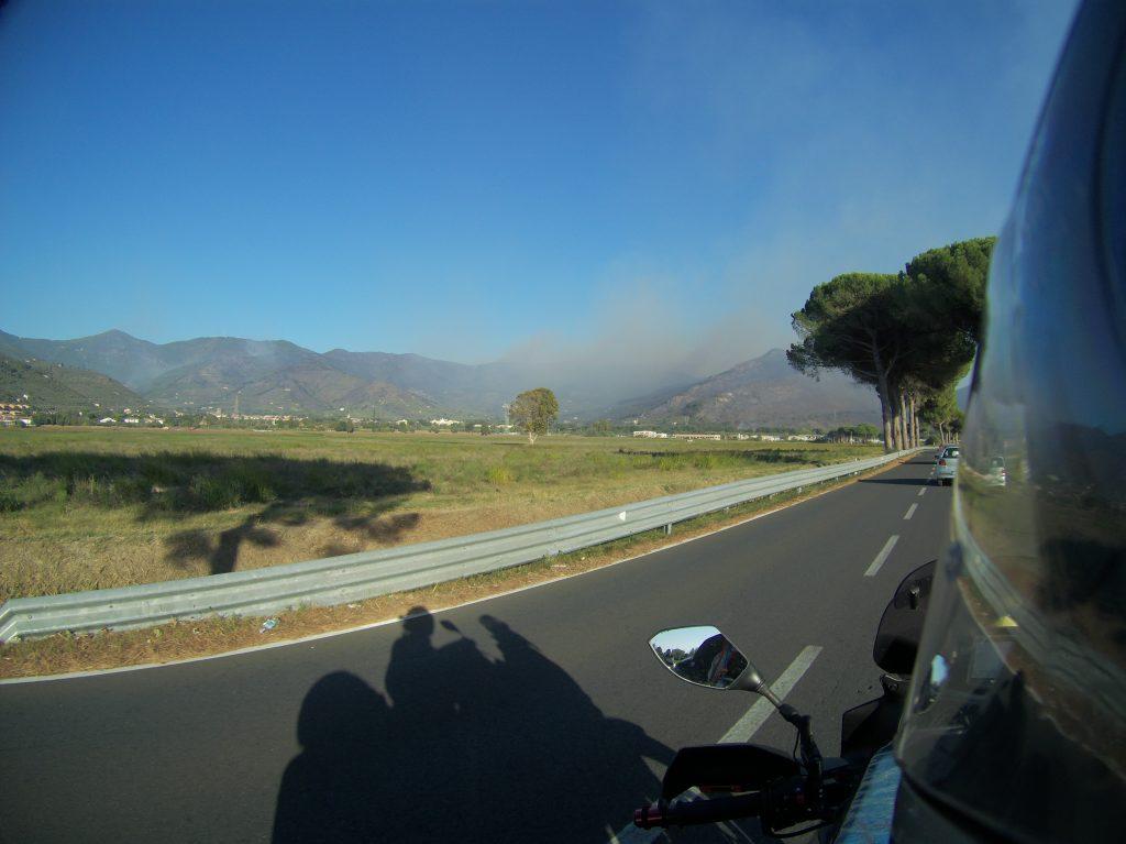 Waldbrand bei Pisa