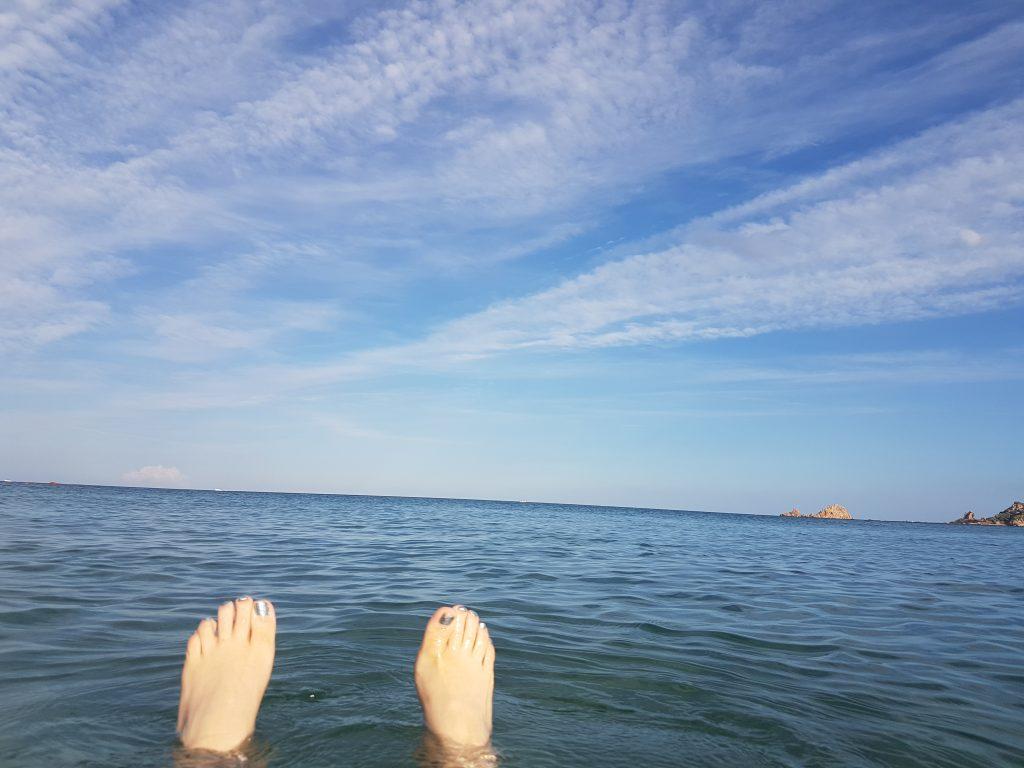 Treibgut im Meer