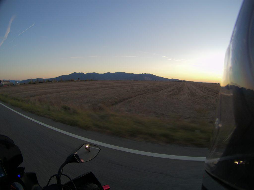Sonnenaufgang hinter Livorno