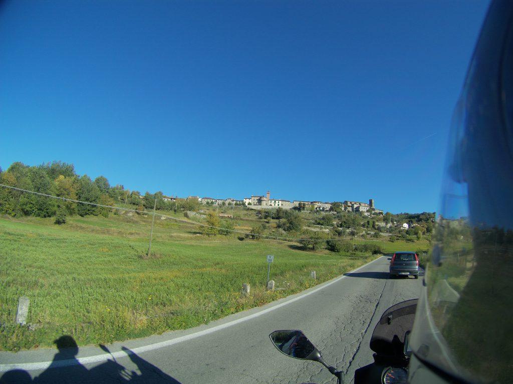 Blick auf Castiglione di Garfagna
