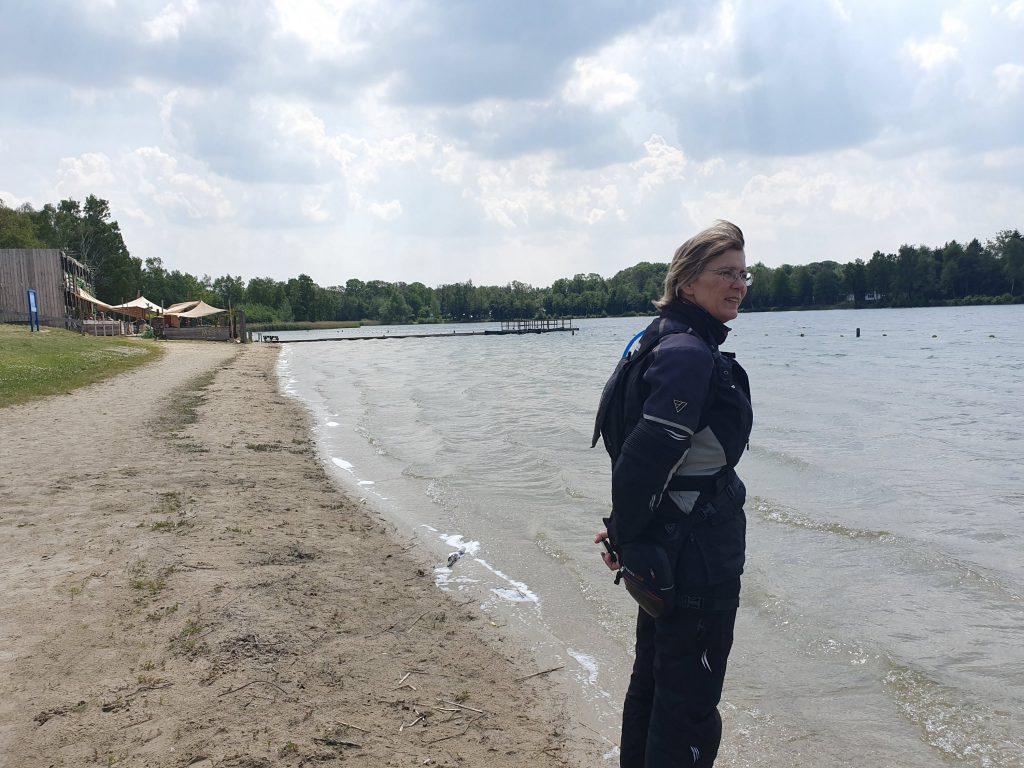 Auch Monika war am See