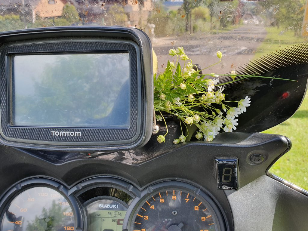 Blumen am Bike!