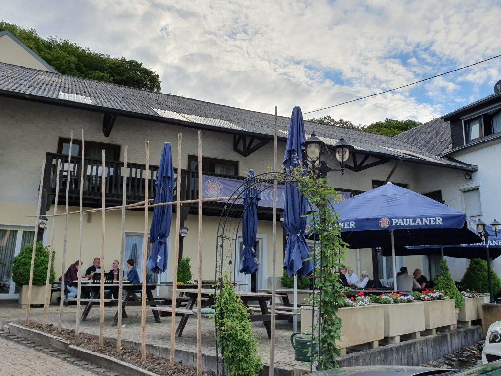 Terrasse im Gasthof Ferrings