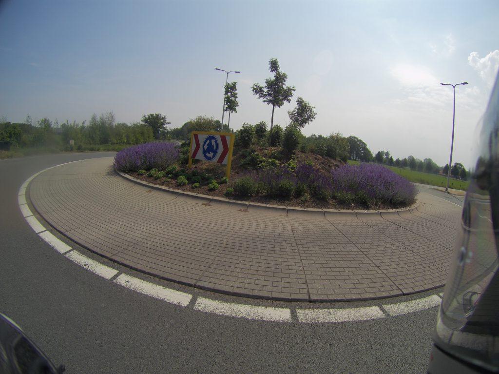 Bunter Kreisverkehr
