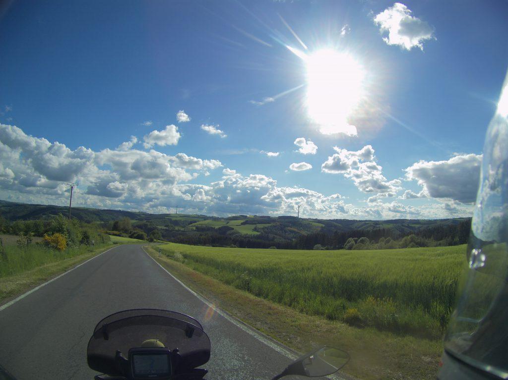 Tiefstehende Sonne in Luxemburg