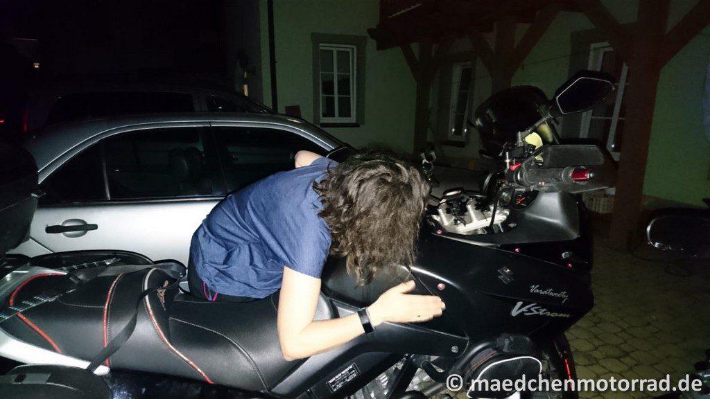 Gute Nacht Lieblingsmotorrad