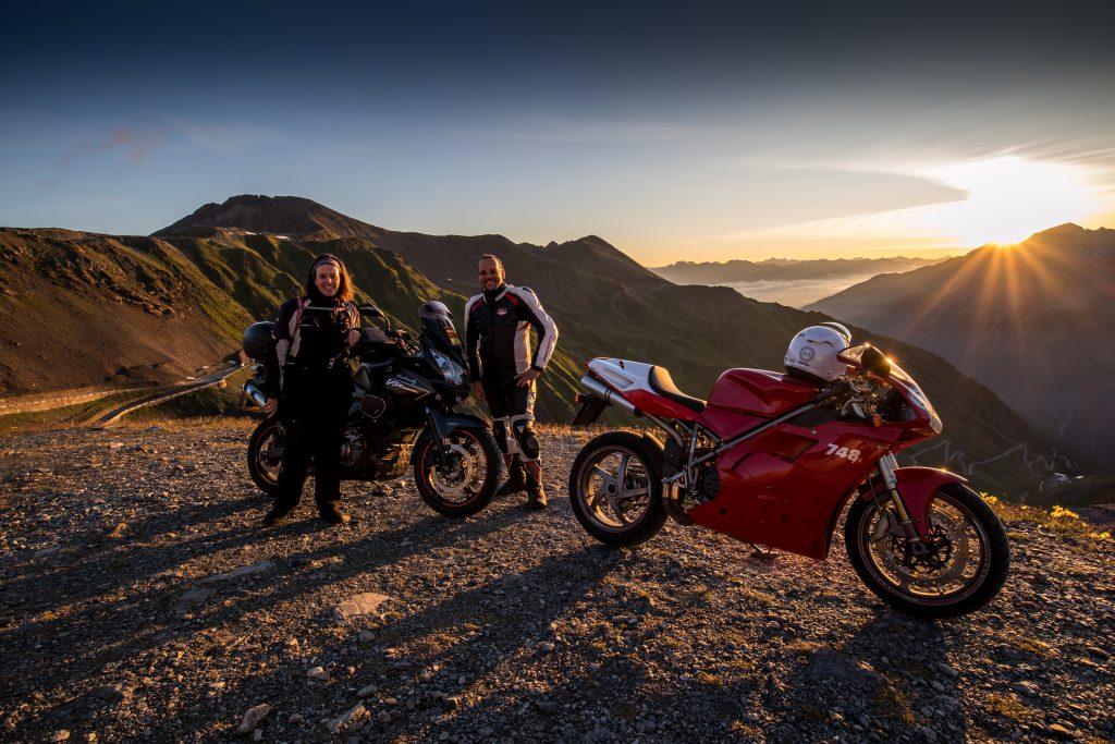 Gruppenfoto in der Morgensonne