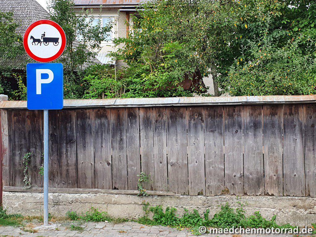 Eigener Parkplatz für Pferdefuhrwerke