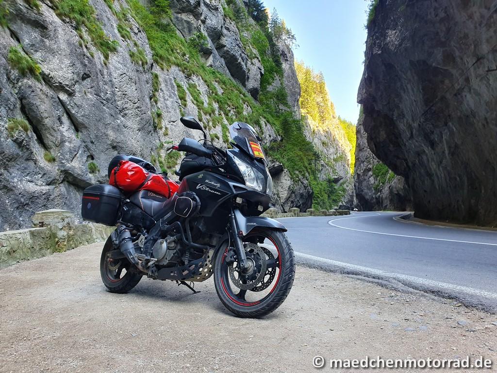 Das schönste Motorrad der Welt in der Klamm