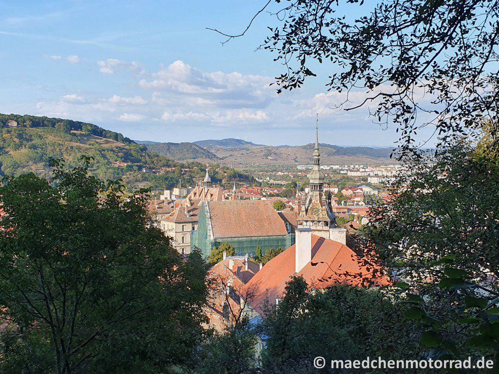 Blick über Schäßburg