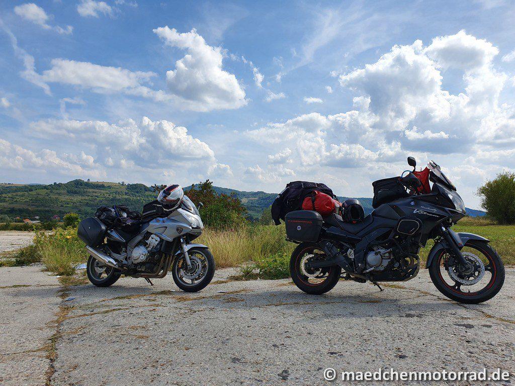 Parkplatz für die Motorräder