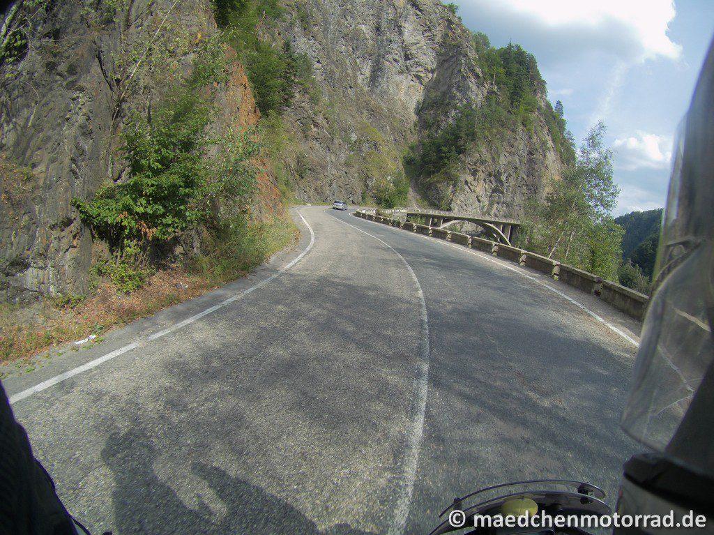 Freie Fahrt auf den ersten Metern der Transfagarasan