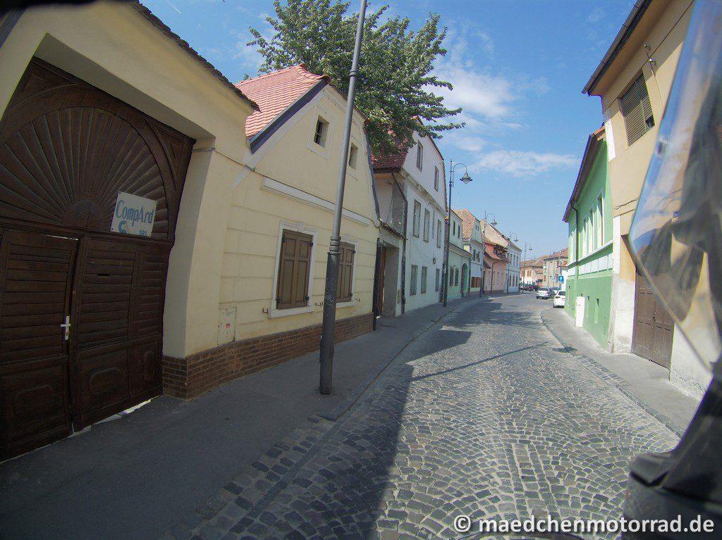 Abfahrt aus dem Zentrum von Sibiu