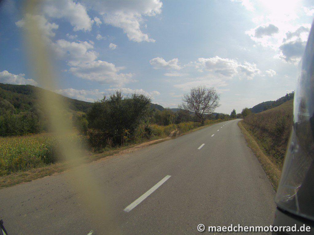 Letzte Hügel - tolle Straßen