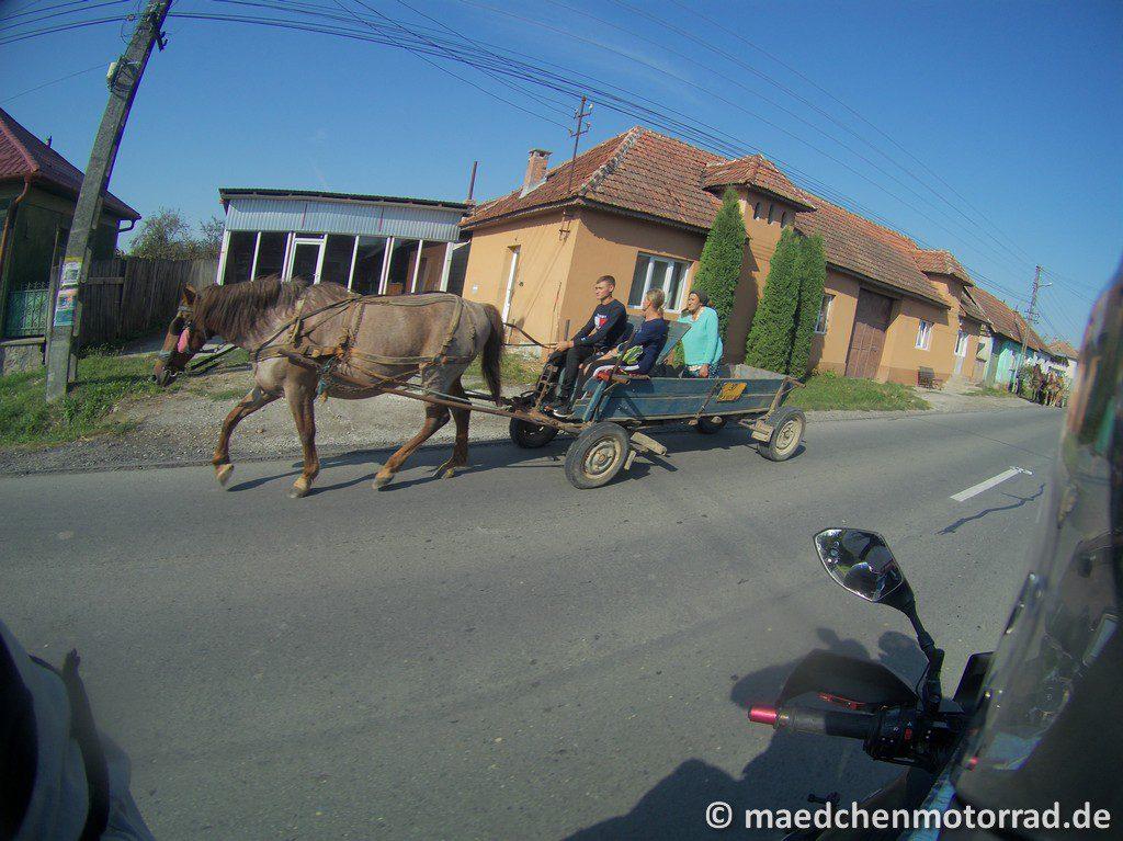 Da machen Pferdegespanne, die überholt werden müssen, die Sache nicht einfacher