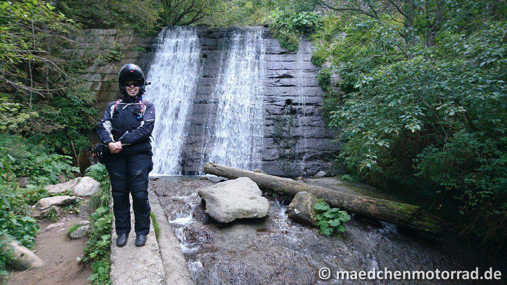Foto am Wasserfall