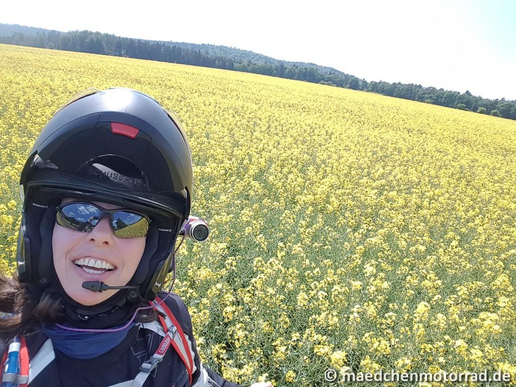 Kamera am Helm angebracht