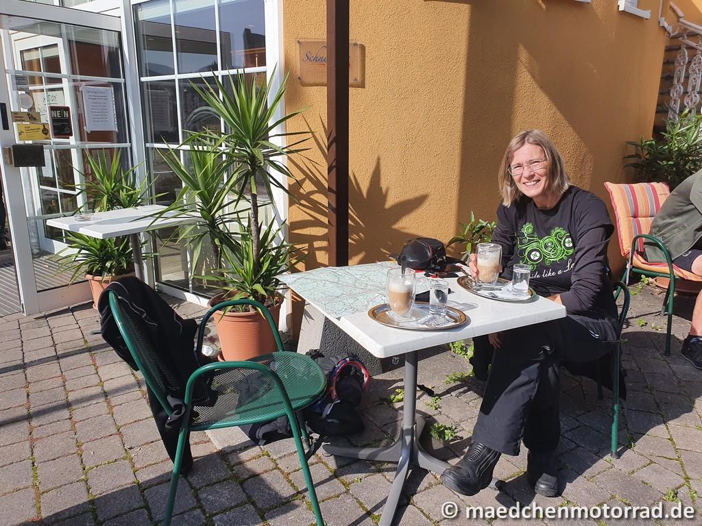 Ein erster Kaffee in Pernitz