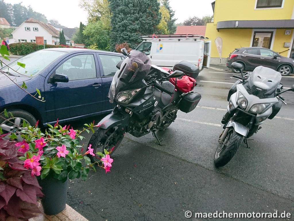 Pause für die Motorräder