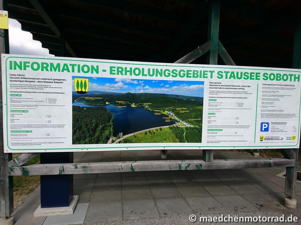 Infotafel zum Soboth-Stausee